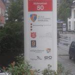 Lettertotaal onverlichte zuil met logo's, Noordmolen