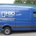 Lettertotaal autobelettering busbestickering HBO kunststof kozijnen en keukens
