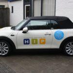 Lettertotaal autobelettering autostickers HIP huiswerkbegeleiding
