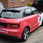 Lettertotaal Audi A1 autowrap fullcolor controltac folie kroesewevers