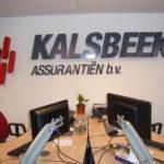 Lettertotaal Gevelreclame Kalsbeek assurantiën BV