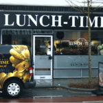 Lettertotaal gevelreclame gevelletters Lunch-Time Enschede