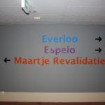 Lettertotaal Foliebelettering muur Maartje Revalidatie
