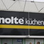 Lettertotaal gevelreclame gevelbord Nolte Küchen