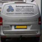 Lettertotaal autobelettering busbestickering SOER behangersbedrijf