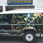 Lettertotaal Foliebelettering auto van tongeren tuinen